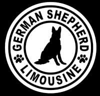 German Shepherd Dog Limousine Stickers